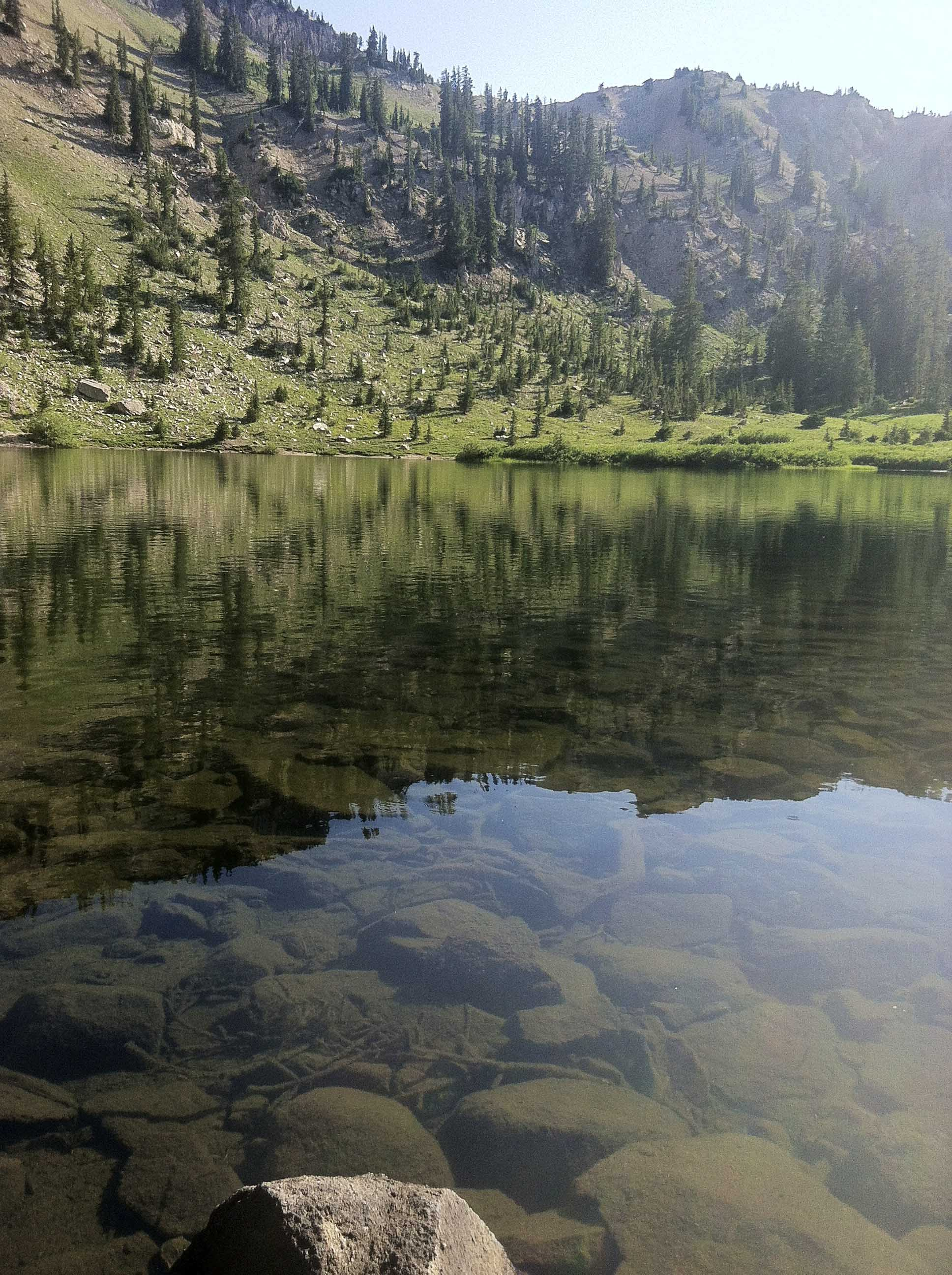 Quiet lake in Utah near Salt Lake City. All time favorite hike. :)